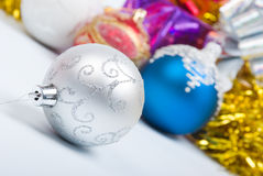 Decoración del árbol de navidad Imagenes de archivo