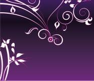 Decoración púrpura de la flor Fotografía de archivo libre de regalías