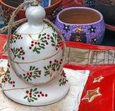 Decoraciones 19 de la Navidad imagen de archivo