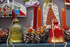 Decoraciones 3 de la Navidad imagen de archivo