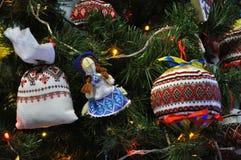 Decoraciones Año Nuevo y la Navidad tree_7 Imagenes de archivo