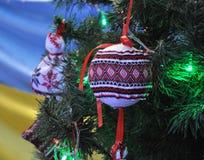Decoraciones Año Nuevo y la Navidad tree_4 Fotografía de archivo