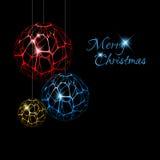 Decoraciones abstractas de la Navidad del vector Imagen de archivo libre de regalías
