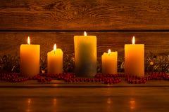 Decoraciones acogedoras de la Navidad Año Nuevo pronto Imagen de archivo libre de regalías