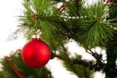 Decoraciones aisladas del árbol de navidad 2016 Felices Año Nuevo Imagen de archivo