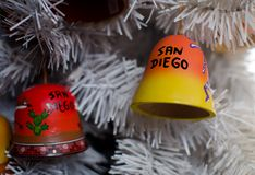 Decoraciones alegres de la Navidad - 4 fotos de archivo