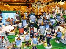 Decoraciones alemanas tradicionales de la Navidad Fotografía de archivo