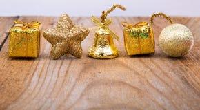 Decoraciones amarillas Foto de archivo
