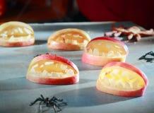 Decoraciones asustadizas de Halloween para los favores Imagen de archivo