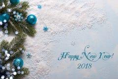 Decoraciones azules de la Navidad Imagen de archivo