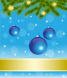 Decoraciones azules de la Navidad ilustración del vector