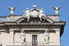 Decoraciones barrocas del palacio de Quirinale Fotos de archivo libres de regalías