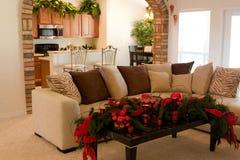 Decoraciones caseras de la Navidad Imagen de archivo libre de regalías