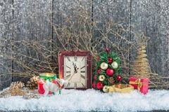 Decoraciones caseras de la Navidad Imagen de archivo