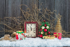 Decoraciones caseras de la Navidad Foto de archivo libre de regalías