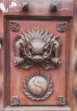 Decoraciones chinas clásicas de los muebles Fotografía de archivo libre de regalías