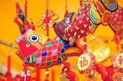 Decoraciones chinas coloridas foto de archivo libre de regalías