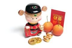 Decoraciones chinas del Año Nuevo Foto de archivo libre de regalías