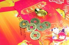 Decoraciones chinas del Año Nuevo Foto de archivo