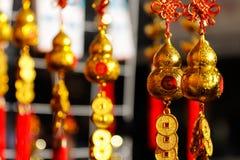 Decoraciones chinas del Año Nuevo en Ciudad de México 2016 Foto de archivo