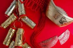 Decoraciones chinas del festival del Año Nuevo Imagen de archivo