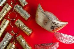 Decoraciones chinas del festival del Año Nuevo Imagen de archivo libre de regalías