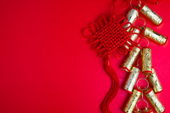 Decoraciones chinas del festival del Año Nuevo Foto de archivo libre de regalías