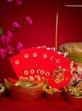 Decoraciones chinas del festival del Año Nuevo, prisionero de guerra del ANG o paquete rojo y Imagen de archivo