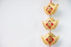 Decoraciones chinas y ejecución del Año Nuevo Imagen de archivo libre de regalías
