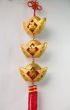 Decoraciones chinas y ejecución del Año Nuevo Foto de archivo libre de regalías
