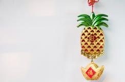 Decoraciones chinas y ejecución del Año Nuevo Imágenes de archivo libres de regalías