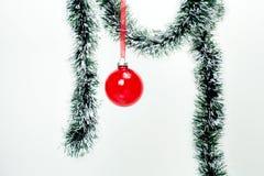 Decoraciones colgantes de la Navidad foto de archivo