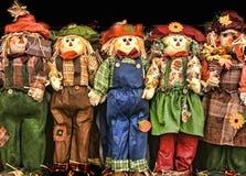 Decoraciones coloridas de Autumn Scarecrow Fotografía de archivo
