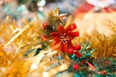 Decoraciones coloridas de la Navidad Foto de archivo