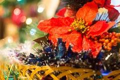Decoraciones coloridas de la Navidad Imagen de archivo