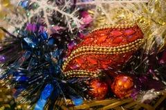 Decoraciones coloridas de la Navidad Imagen de archivo libre de regalías