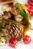 Decoraciones coloridas de la Navidad Fotos de archivo libres de regalías
