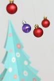 Decoraciones coloridas de las bolas de la Navidad Imagen de archivo