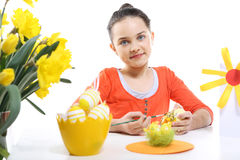 Decoraciones coloridas de Pascua Imagen de archivo libre de regalías