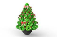 Decoraciones - conos brillantes verdes del pino Foto de archivo libre de regalías