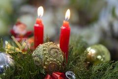 Decoraciones de Cheristmas Imagen de archivo libre de regalías