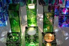 Decoraciones de cristal coloreadas Fotografía de archivo libre de regalías
