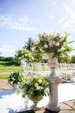 Decoraciones de Floristics para la ceremonia de boda Florece el primer Fotografía de archivo libre de regalías