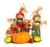 Decoraciones de Halloween Imágenes de archivo libres de regalías
