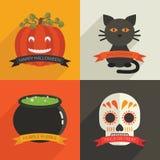 Decoraciones de Halloween Fotografía de archivo libre de regalías