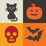 Decoraciones de Halloween Imagen de archivo libre de regalías