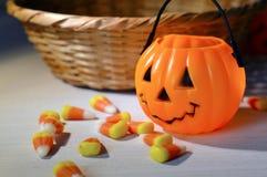 Decoraciones de Halloween Foto de archivo libre de regalías
