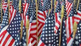 Decoraciones de la bandera americana almacen de metraje de vídeo