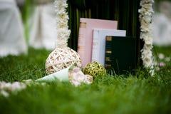 Decoraciones de la boda Fotos de archivo