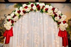 Decoraciones de la boda imagenes de archivo